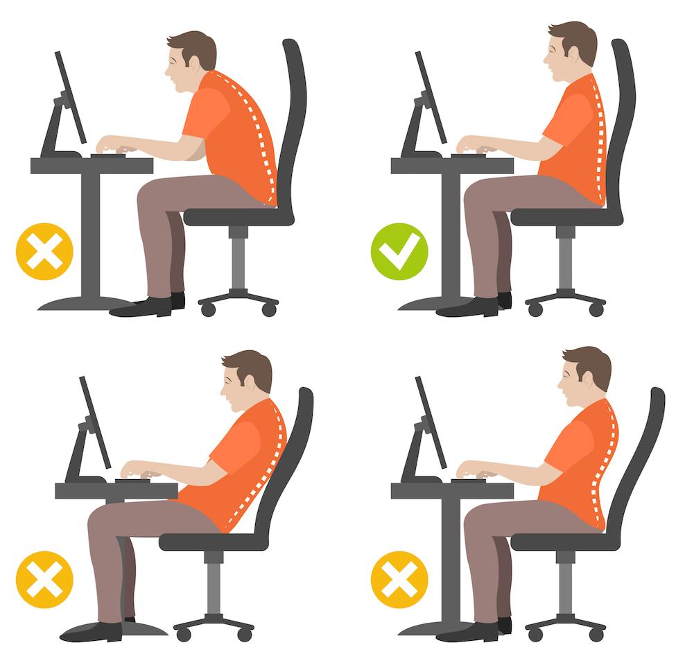 Buena postura con el ordenador cuales son las mejores posturas